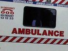 A WOMAN has been taken to hospital with neck and shoulder injuries after a crash south of Ipswich this afternoon.