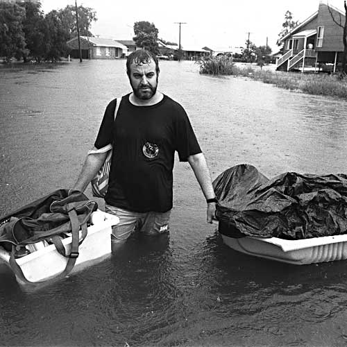 The one in 100 year floods that inundated Marcoola. Photo:Contributed