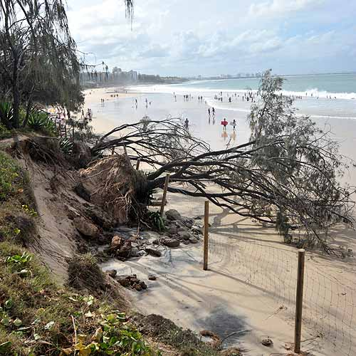 Looking Ahead: Sunshine Coast Council is giving consideration to some of its own assets, which could be affected by erosion. Brett Wortman/180405