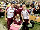 IPSWICH was painted Maroon when more than 2000 league lovers mobbed Queensland's State of Origin heroes.