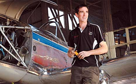 Aircraft maintenance and restoration specialist David Kingshott.
