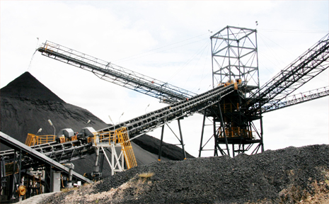 The coal stockpile at the Isaac Plains Mine, near Moranbah.