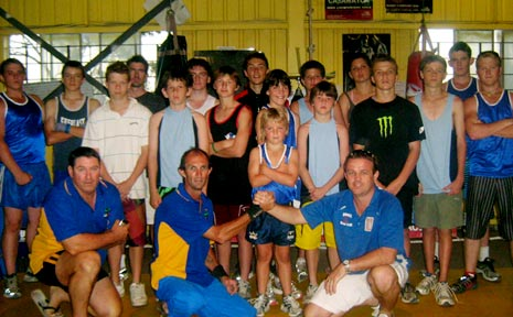 THE A1 Boxing Club in Gatton after the fight night at the Gatton Sports Centre.