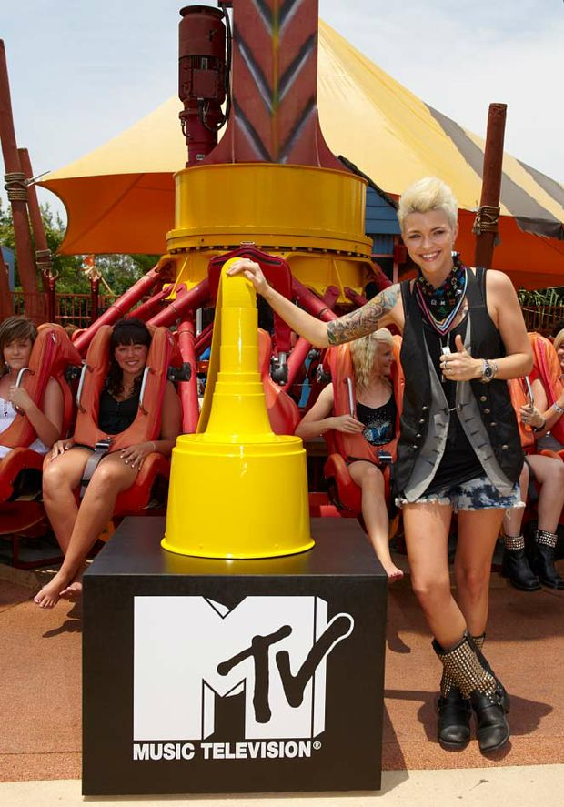 Ruby Rose was at Dreamworld today to announce the brand new MTV Plugs into Dreamworld Summer Series.