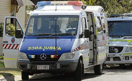 A man was taken to hospital after a truck crash at Dalby this morning.