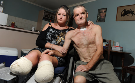 Fiona Summersides and her dad Terry are struggling to cope.