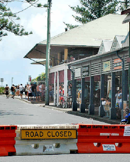 Byron Bay will have a strong police presence and be closed to traffic tonight.
