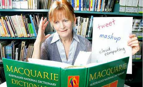 """The Bremer Institute of TAFE's library manager Robyn Dennis gives """"tweet"""" her vote in the Word of the Year contest."""