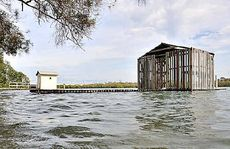 The king tide on the Maroochy River in 2010.