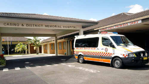 Casino Hospital's emergency department is without a doctor following a gastro outbreak.