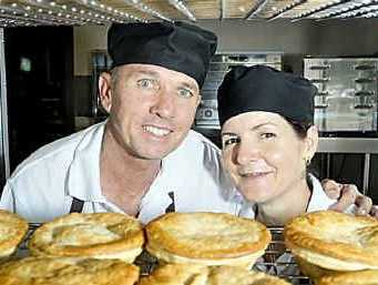 Kim and Shelley Waters have renovated the old corner store on Perth and Hume streets and are now churning out freshly baked pies.