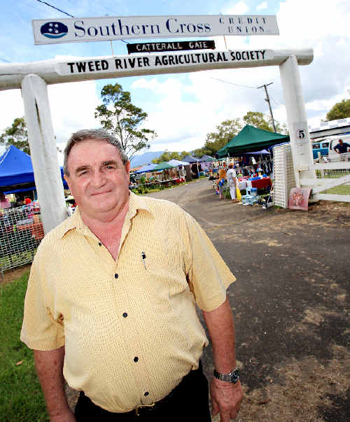 Tweed mayor Warren Polglase is standing up for the Murwillumbah Showground Trust which relies on campers as well as events like yesterday's market to raise revenue for maintenance.