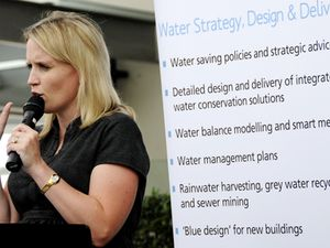 Queensland's minister for Climate Change and Sustainability Kate Jones at the Logan Hyperdome last week.