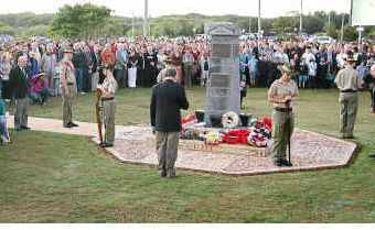 Some of the crowd at last year's Coolum Peregian RSL Anzac Day dawn service.