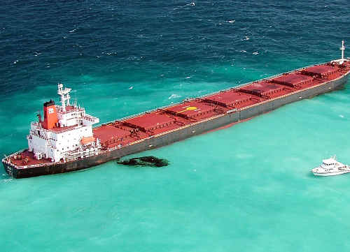 The captain of the Shen Neng 1 coal carrier that hit Douglas Shoal on the Great Barrier Reef in 2010 has been found ultimately liable even though he wasn't steering the ship at the time.