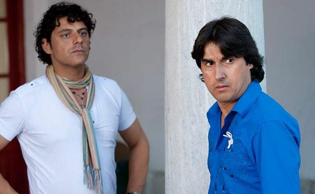 Nick Giannopoulos and Vince Colosimo in The Kings of Mykonos: Wog Boy 2.