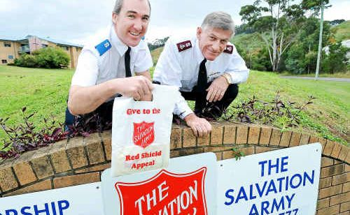 Andrew Bate and Major Steve Metcher gearing up for appeal day.