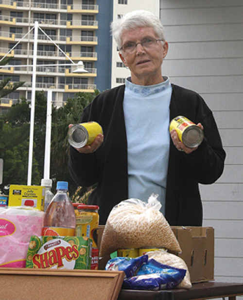 Terri Bradley is battling to ensure these will not be the final days of the pensioner food giveaway.