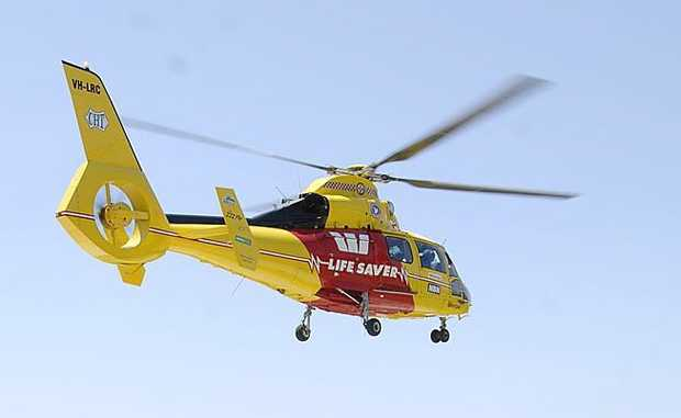 The Westpac Lifesaver Rescue Helicopter.
