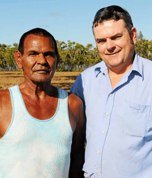 Bunda Family elder Jason Brown and Cultural and Heritage trainer John Water united in their drive to get the name of Paddy's Island changed.