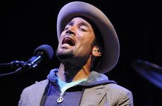 Ben Harper performs at Splendour in Grass 2010 at Woodford.