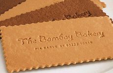 The cookie business cards come in an assortment of flavours.