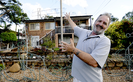 LIGHTS ON: Work has already started on Ray Moore's Kingston home. Photo: Ruth Keber