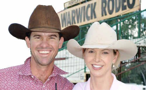 Mac and Gayle Shann in Warwick yesterday after the campdrafting weekend of their lives at Chinchilla.