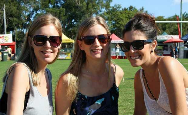 Jessica Watson, Solia Bjorklund and Kirby Evangelista at the 2010 Golden Days Festival.