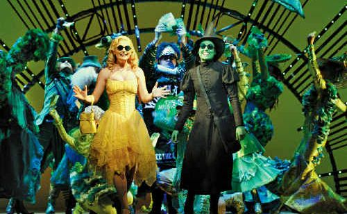 Lucy Durack and Jemma Rix in Wicked.
