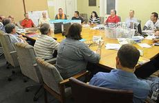 Acting Gympie Regional Mayor Tony Perrett chaired the Local Governement Disaster Management Group meeting at the Old Bank Building on Sunday.