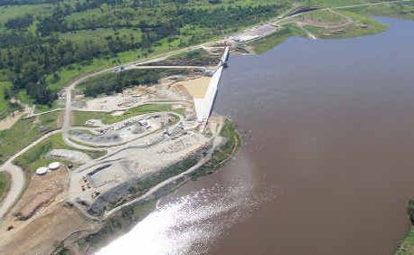 The new Wyaralong Dam approximately 62 per cent full. That level has now jumped to 80 percent.