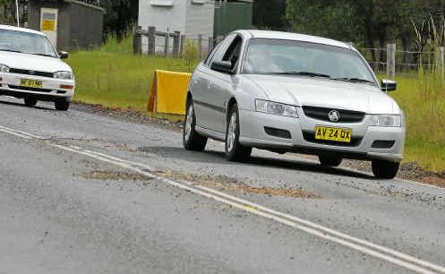 Enormous pot-holes along the Summerland Way between Grafton and Casino have been making driving hazardous and rough.