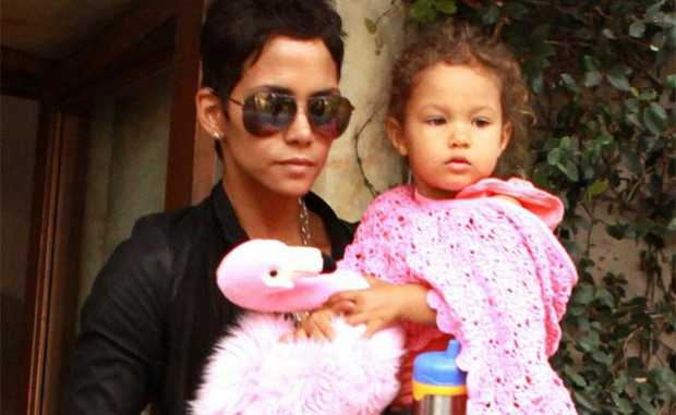 Halle Berry with daugher Nahla.