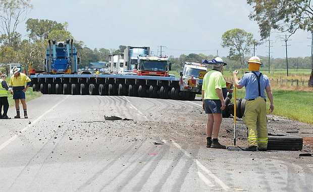 The site of the crash on the Bruce Highway, near Baker's Creek.