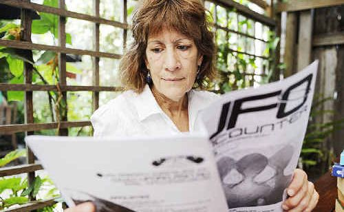 Karen Carruthers, who co-ordinates the Byron UFO Research group, says she wants to give the subject some credibility.