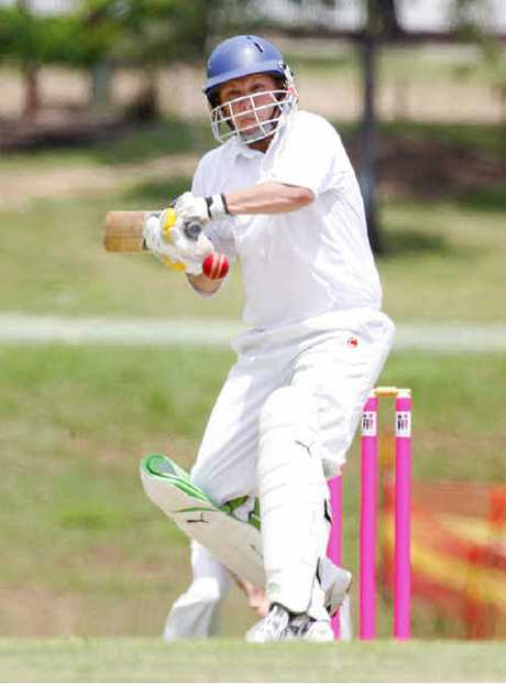 Strollers/Raiders Craig Cumming on his way to 113 against Central Districts.