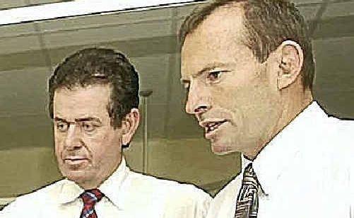 Peter Slipper (left) and Tony Abbott.