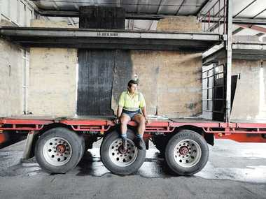Mills Transport driver Dom Ciani of Crabbes Creek has had years of experience driving trucks on the Pacific Highway, but now avoids driving south of Ballina because of its treacherous state.