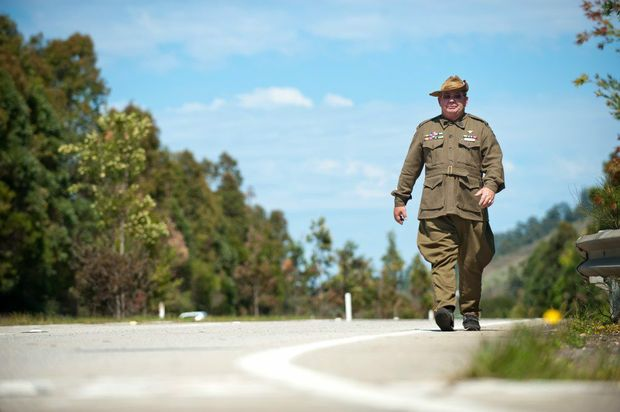 Coffs Harbour serviceman Barry Gracey is retracing the steps of fallen Diggers.