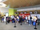 Passengers at Gold Coast Airport.