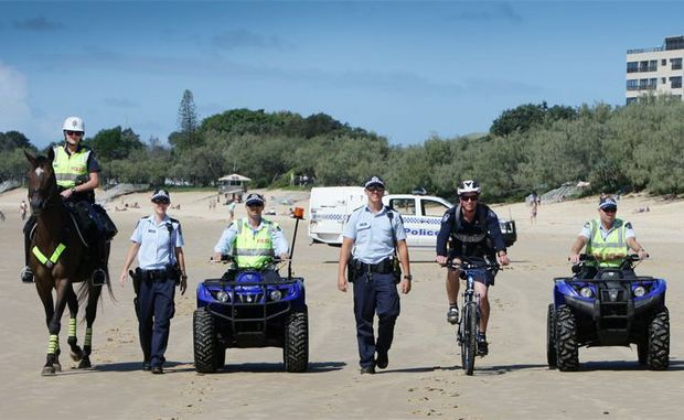 Police on foot, pushbikes, quad bikes and even horseback will be keeping an eye on our beaches over Easter.