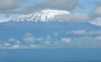 XA VIEW of Mt Kilimanjaro located in Tanzania, Africa, the highest free-standing mountain in the world.