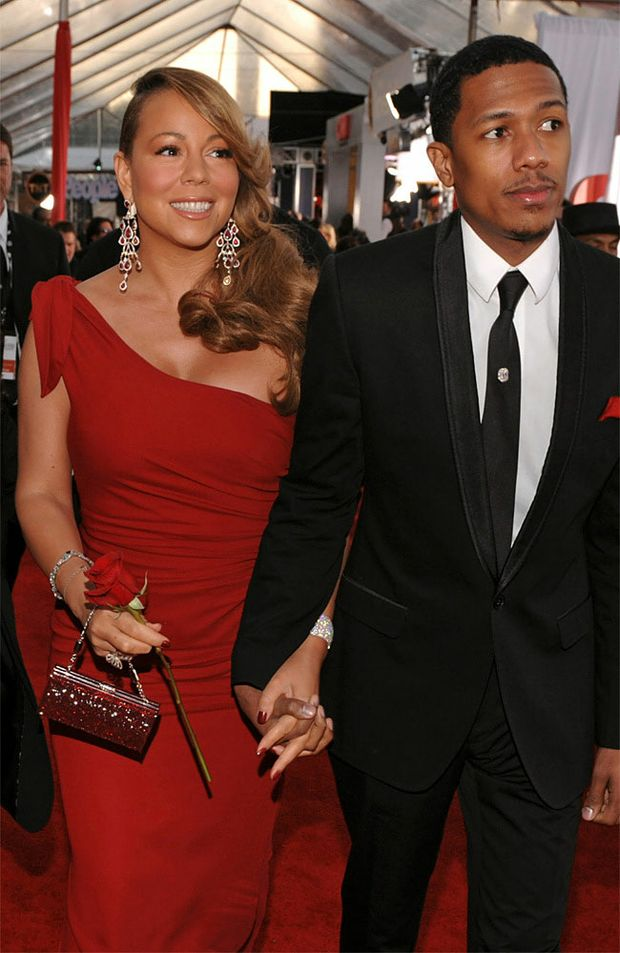 Nick Cannon and wife, Mariah Carey.