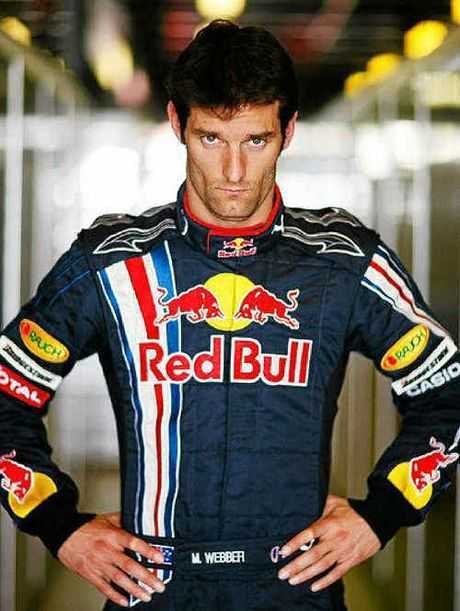 F1 high flyer Mark Webber.