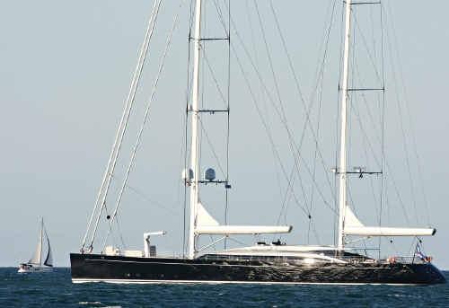 Super yacht off Mooloolaba.