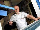 NSW Marine Rescue Point Danger commander Bernie Gabriel inspects the damage.