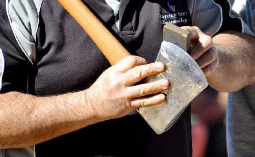 Axes are being sharpened for Saturday's annual Glenreagh Timber Festival.