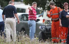 Police and SES at the end of Kings Rd, Glass House Mountains at the base of the search party for Daniel Morcombe. Photo: Nicholas Falconer / Sunshine Coast Daily