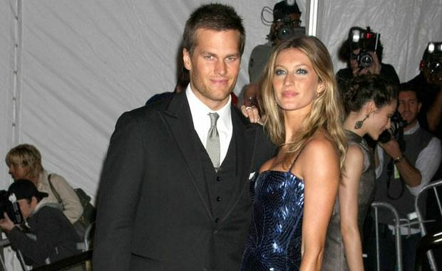 Couple Gisele Bundchen and Tom Brady.